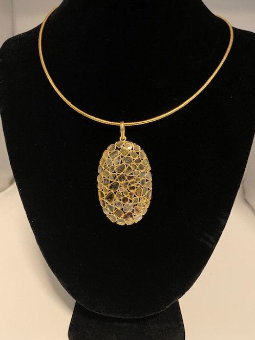 Sliced diamond Necklace