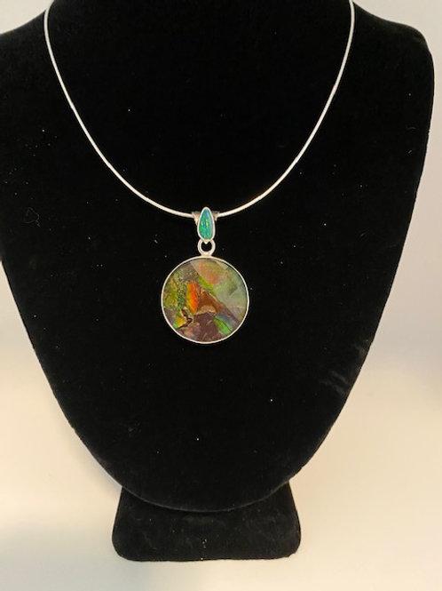 Round Ammolite necklace