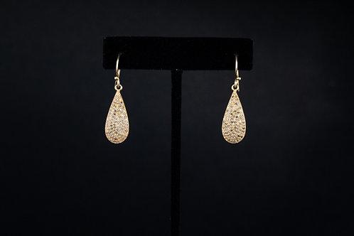 Teardrop Pave Earrings