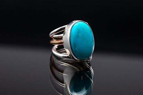 Kingman Turquoise Oval Ring