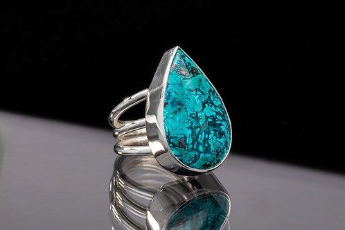 Chrysocolla Shattuckite ring