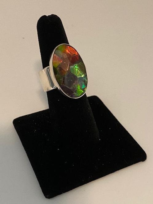 Oval Ammolite ring
