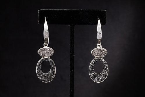 Drusy Quartz Mod earring