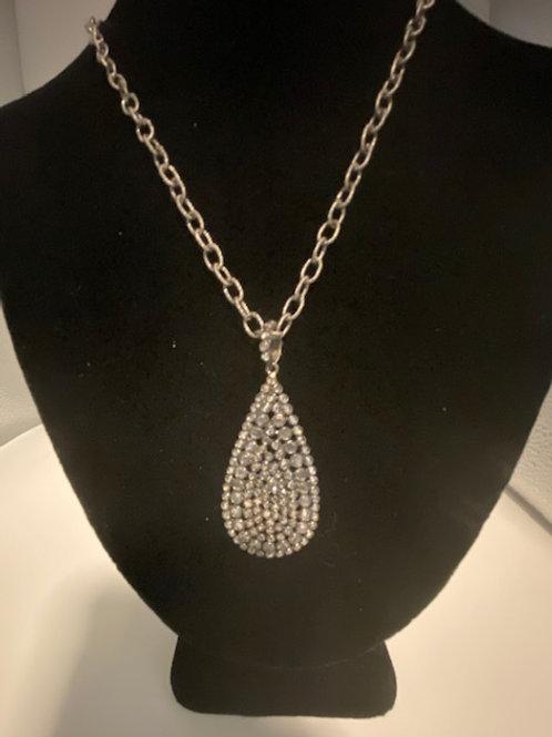 Sliced topaz necklace