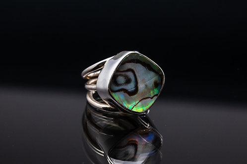 Abalone Quartz Ring