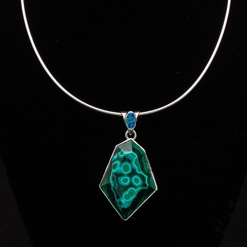 Faceted Malachite necklace