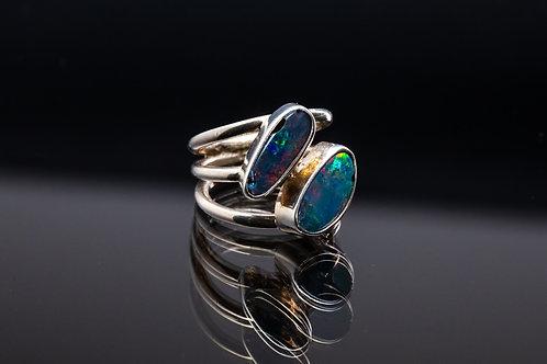 Australian Opal Double Wrap Ring