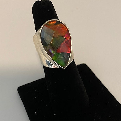 Teardrop Ammolite ring
