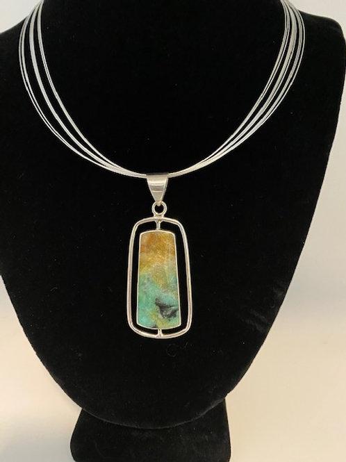 Petrified opal wood necklace