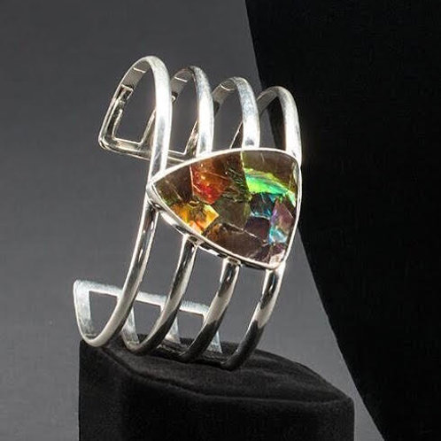 Ammolite Cuff Bracelet