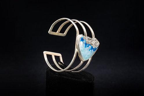 Platinum Drusy Quartz Bracelet