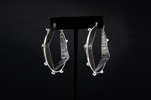 3D Silver Earrings
