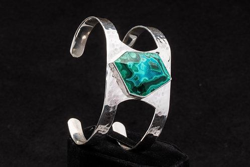 Malachite Chrysocolla Cuff Bracelet