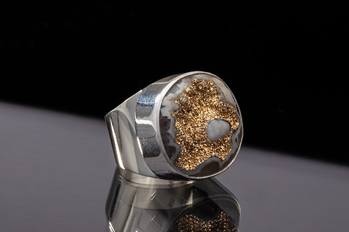 Gold Valley Drusy ring