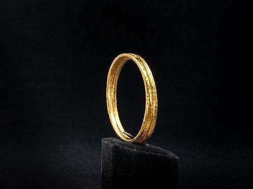 Gold Vermeil Hand Textured Bangles