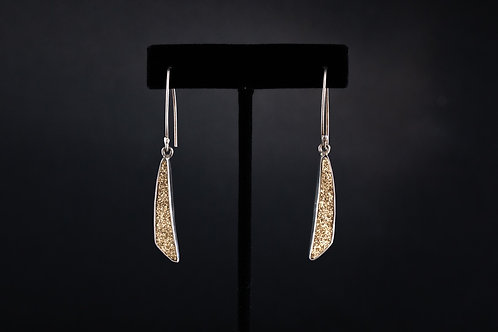 Gold Druzy Quartz Earrings
