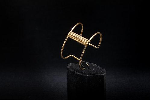 Thin Gold Vermeil Cuff Bracelet