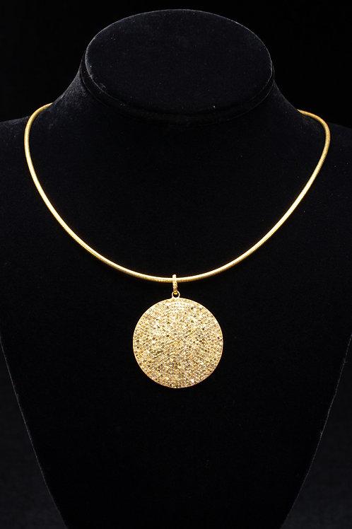 Gold Pave Diamond Pendant