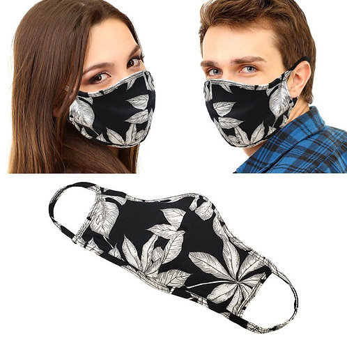 Facemask - Black& White Floral