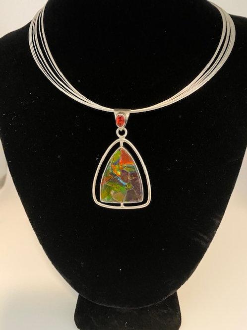 Trillion Ammolite necklace