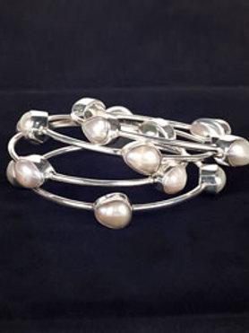 Baroque Pearl Bangles (each)