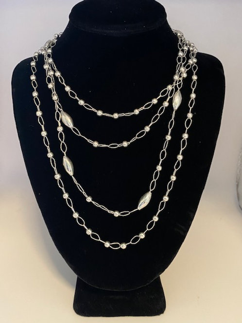 2 sterling silver mixed chains