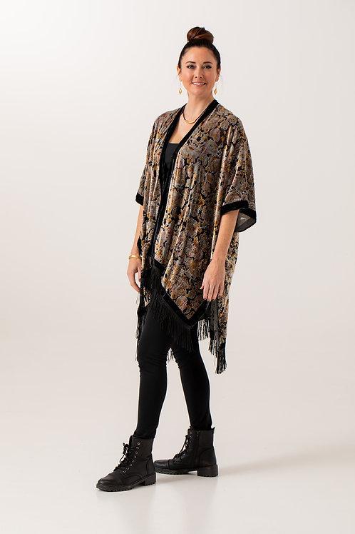Tassled Velvet Kimono