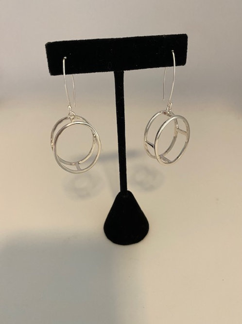 3 dimensional oval hoops (Small)