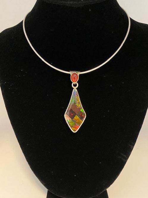 Ammolite necklace