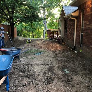 Before - Sprinkler Install/Drainage/Sod