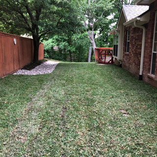 After - Sprinkler/Drainage/Sod