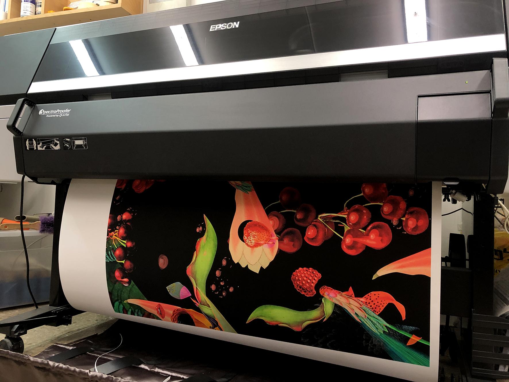 Printing the cherries @Artscan