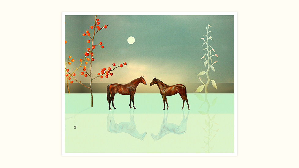 Two Horses on Ice