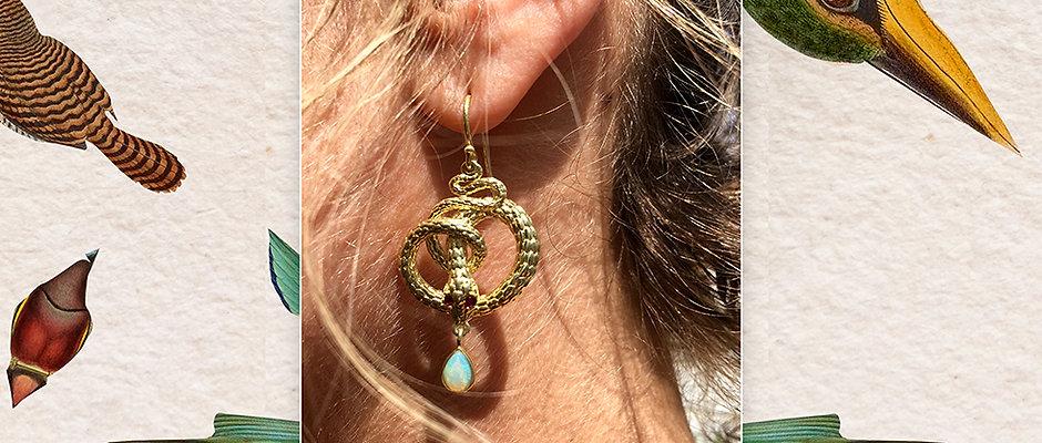 The 18K Gold Plated Snake Earrings