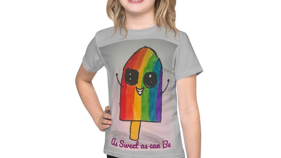 Rainbow Popsicle Basic Short Sleeved T-Shirt