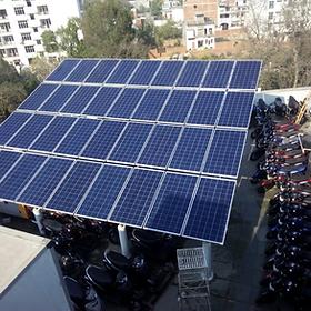 Solar comercial power plant