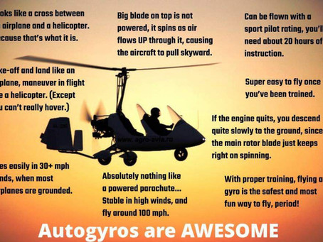 So many reasons to fly a Gyroplane....