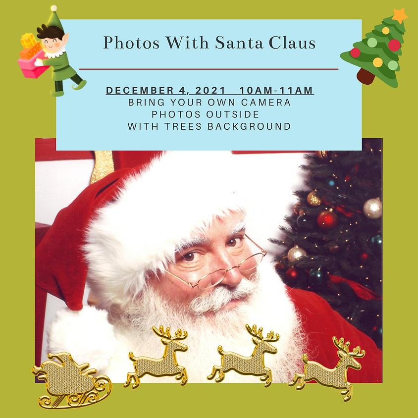 Photos with Santa 10am-11am