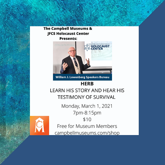 Membership Monday: JFCS speaker, Herb. A Story of Survival