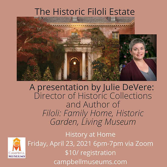 The Historic Filoli Estate with Julie DeVere, Director of Museum Collections
