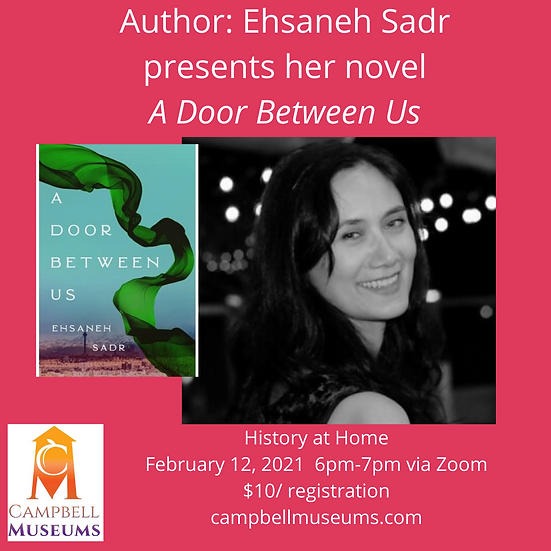 Author Ehsaneh Sadr: A Door Between Us