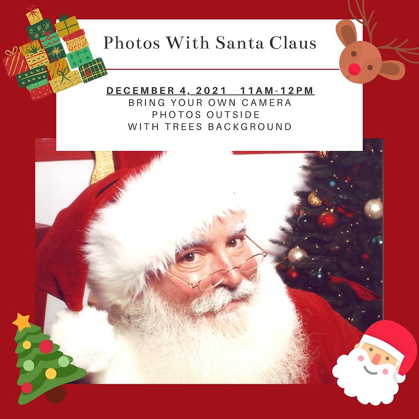 Photos with Santa at the Ainsley House