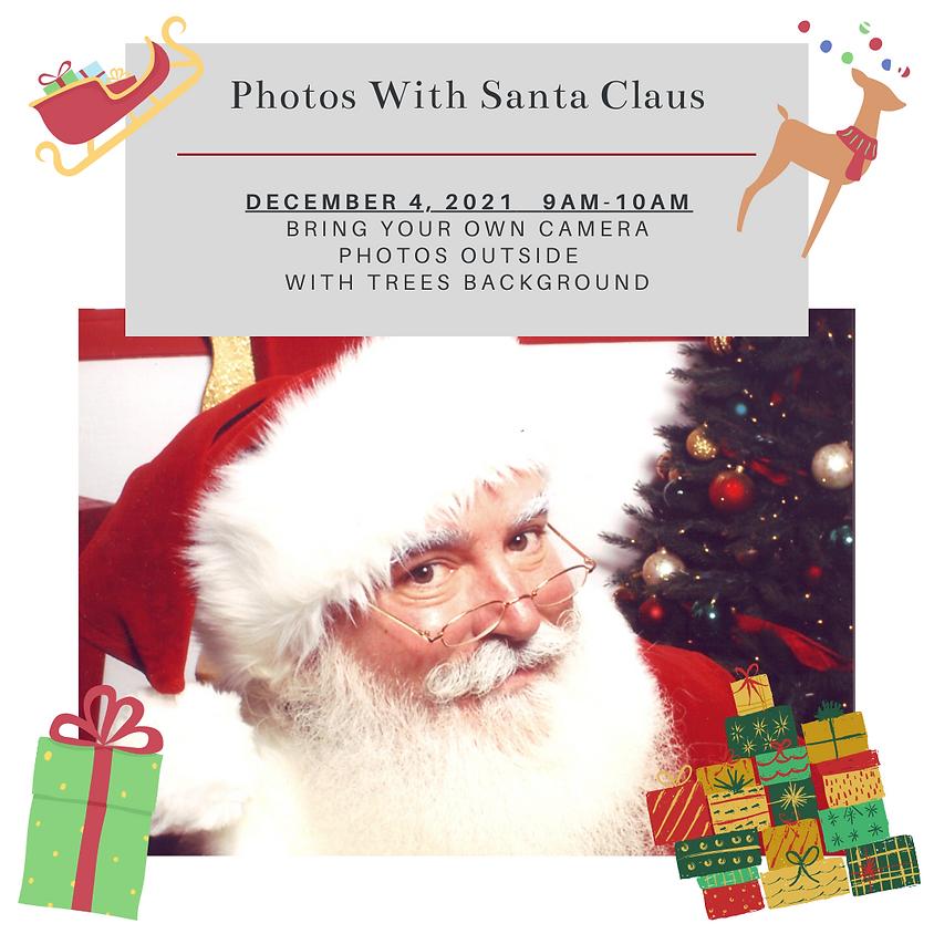 Photos with Santa 9am-10am