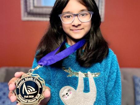 Fall 2020 Noetic Math Contest Winner