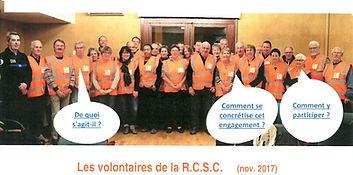 Les volontaires de la R.C.S.C Novembre 2