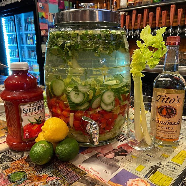 Bloody Mary Mix Available for take out!
