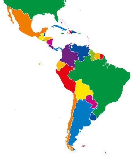 64059073-américa-latina-estados-solo-map