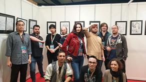 Michaël Almodovar au TGS avec toute l'équipe des mangaka français ;)