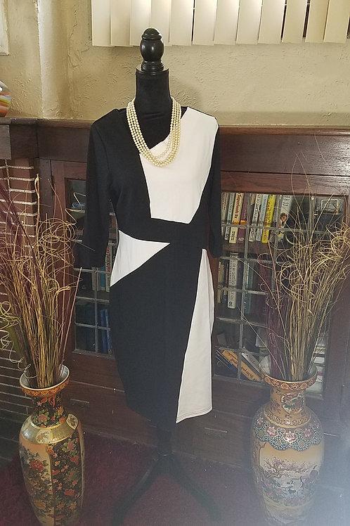 Contrast Elegant Dress