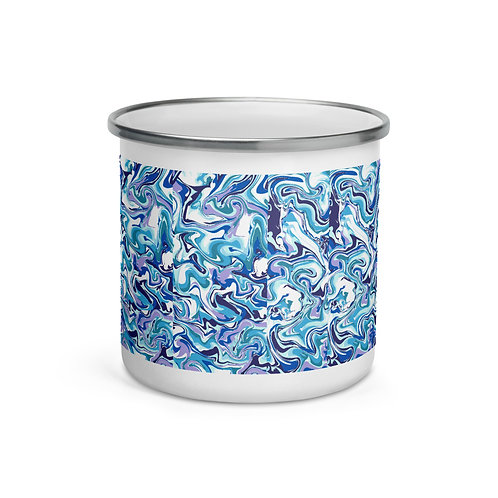 Marbleize Enamel Mug